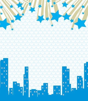 Abstract Cityscape Stars Background - vector gratuit #350989