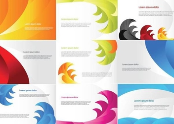 Colorful Business Card Pack Template - vector gratuit #351089