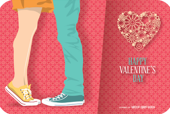 Happy Valentine's day card - vector gratuit #351169