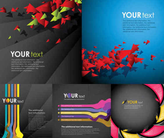 Abstract Business Background Set - бесплатный vector #351289