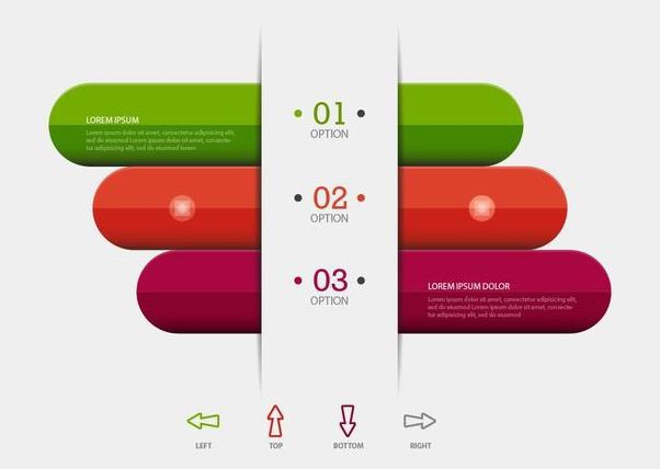 Colorful Bars Business Infographic - Free vector #351329