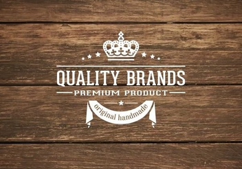 Retro Label on Wooden Background - vector gratuit #351369