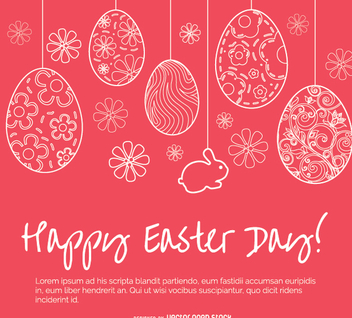 Easter simple greeting card - vector gratuit #351429