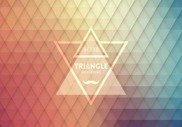 Hipster Label Seamless Triangle Pattern - vector gratuit #351439