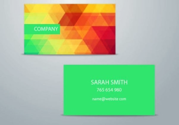 Colorful Triangles Business Card - Free vector #351449