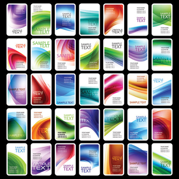 Colorful Vertical Business Card Set - Kostenloses vector #351509