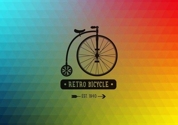 Retro Bicycle Polygonal Background - Free vector #351519