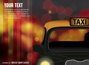 Cab Taxi car - Free vector #351599
