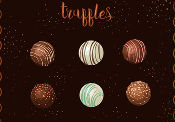 Round Chocolate Truffles - бесплатный vector #351669