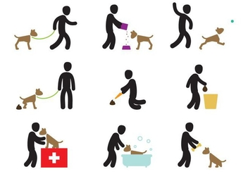 Dog Care Actions - vector gratuit #351689