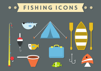 Fishing Accessories in Vector - Free vector #351729