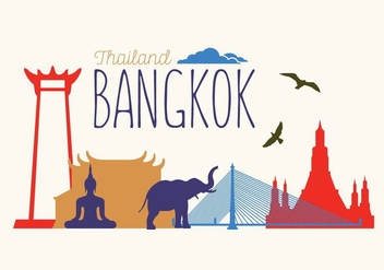 Vector Illustration of Bangkok - vector gratuit #351789