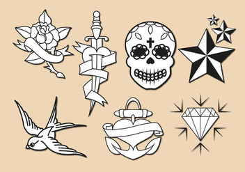 Old School Tattoo Vector - бесплатный vector #351809