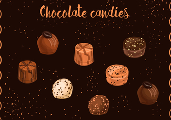 Chocolate Candies Vectors - vector gratuit #351839