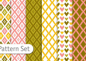Colorful Aztec Patterns - Free vector #351979