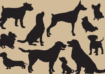Dog Silhouettes - Free vector #352029