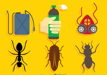 Pest Control Icons Sets - Free vector #352119