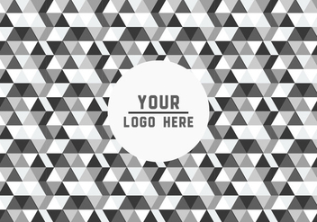 Free Black and White Geometric Logo Background Vector - vector gratuit #352129