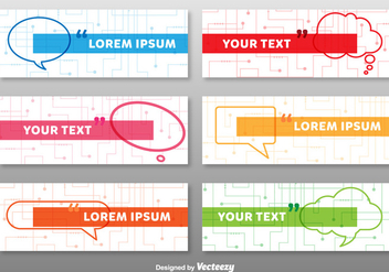 Colourful Tech Banners Template - Free vector #352209