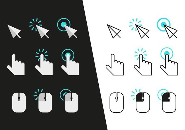 Mouse Click Icons Vector - Kostenloses vector #352219