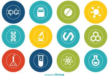 Chemistry Vector Icon Set - vector gratuit #352249
