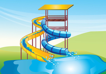 Water Slide Vector Background - vector gratuit #352259