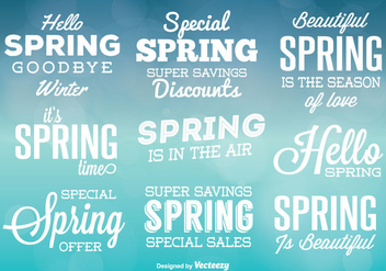 Typographic Spring Vector Labels - Free vector #352269
