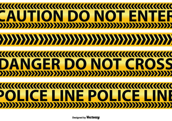 Police and Caution Line Vectors - Kostenloses vector #352289