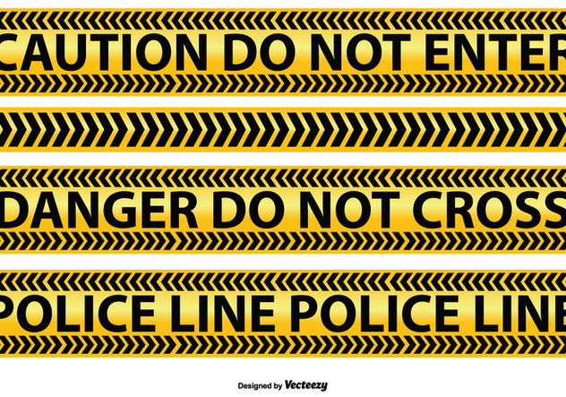 Police and Caution Line Vectors - vector gratuit #352289