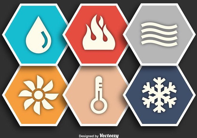 HVAC Flat Vector Icons - Kostenloses vector #352309