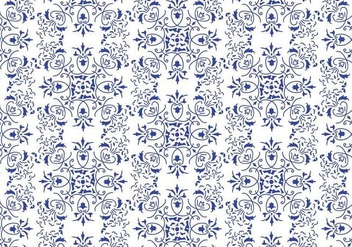 Blue Floral Background Vector - vector gratuit #352329