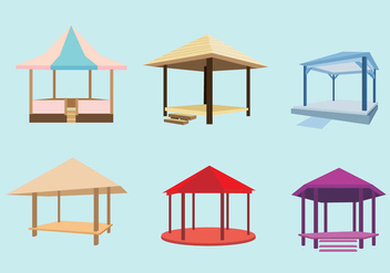 Various Gazebo Vector - бесплатный vector #352339