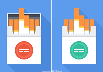 Free Cigarette Pack Vector Set - бесплатный vector #352359