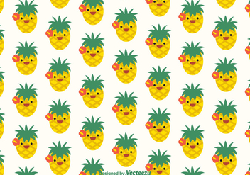 Free Ananas Faces Vector Pattern - vector gratuit #352379