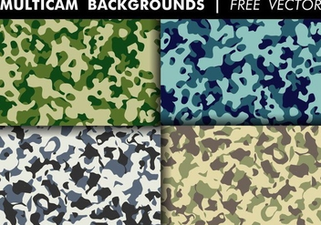 Multicam Backgrounds Free Vector - vector gratuit #352419