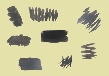 Free Black Brushstrokes Vectors - бесплатный vector #352449