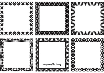 Decorative Vector Frames Set - vector #352469 gratis