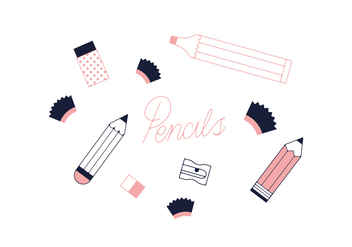 Free Pencils Vector - vector #352519 gratis