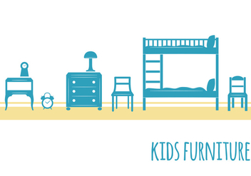 Kids Furniture - vector #352539 gratis