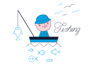 Free Fishing Vector - бесплатный vector #352579
