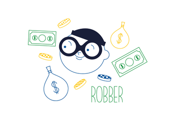 Free Robber Vector - Free vector #352649