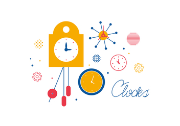 Free Clocks Vector - vector #352659 gratis
