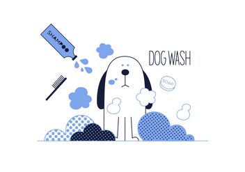 Free Dog Wash Vector - vector gratuit #352689