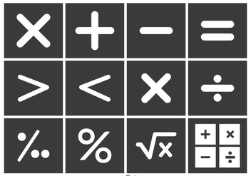 Math Vector Symbol Set - Free vector #352829