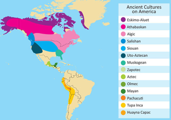 Vector of Ancient Cultures in the Americas - Free vector #352869