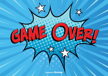 Comic Style Game Over Illustration - vector gratuit #352879