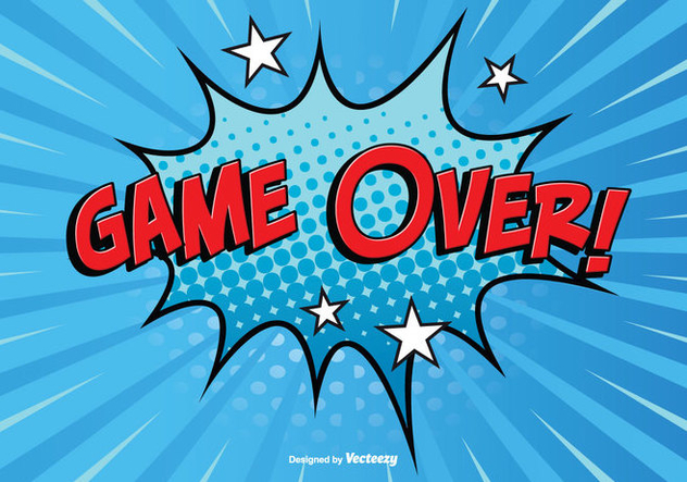 Comic Style Game Over Illustration - Free vector #352879