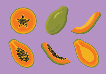 Papaya Vector - Free vector #352939