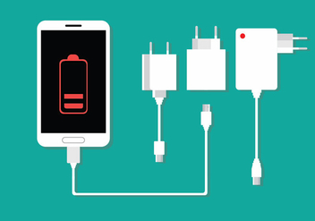 Phone Charger Vector - Free vector #352969