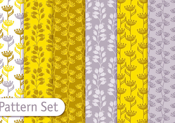 Mustard Yellow Pattern Set - vector #353059 gratis